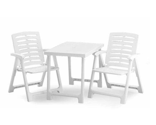 Набор Pik Nik Set (кресло Rexi - 2шт.стол Nik - 1 шт.) белый - Фото №1