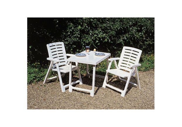 Набор Pik Nik Set (кресло Rexi - 2шт.стол Nik - 1 шт.) белый - Фото №2
