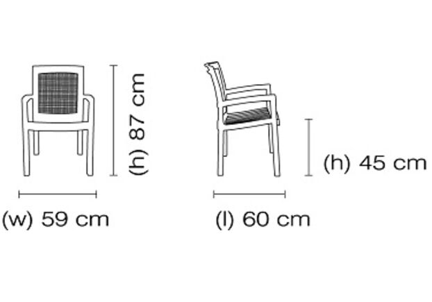 Кресло для сада Вира зеленое 05 - Фото №2