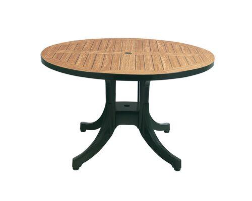 Стол для сада Дива d120 см зеленый 05 декорированный под дерево - Фото №1