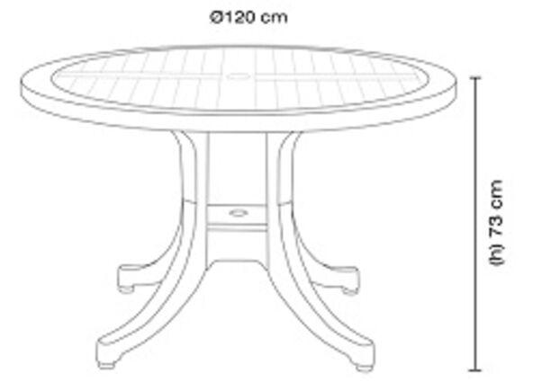 Стол для сада Дива d120 см зеленый 05 декорированный под дерево - Фото №2