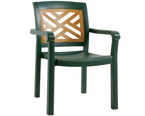 Кресло для сада Адмирал  зеленое 05 - Фото №1