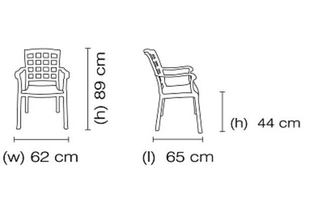 Кресло для сада Паша зеленое 05 - Фото №2