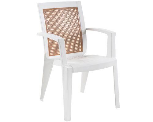 Кресло для сада Сапфир белое 01 - Фото №1