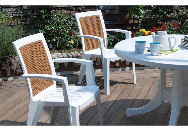 Кресло для сада Сапфир белое 01 - Фото №2