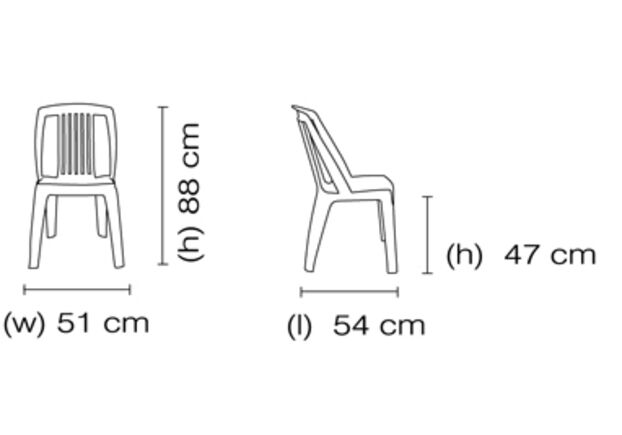 Кресло для сада Фавори белое 01 - Фото №2