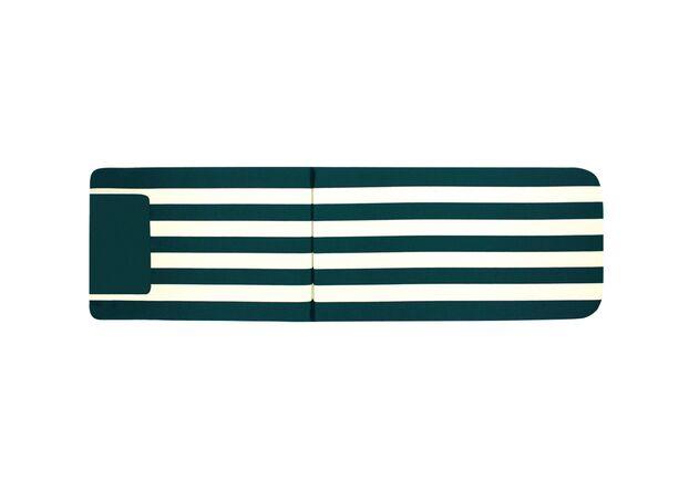 Матрас для шезлонга темно-зеленый с бежевым - Фото №1