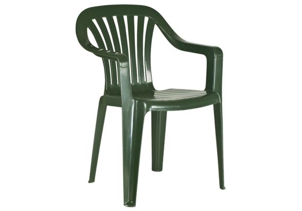 Кресло пластиковое для сада Тропик зеленое 05 - Фото №1