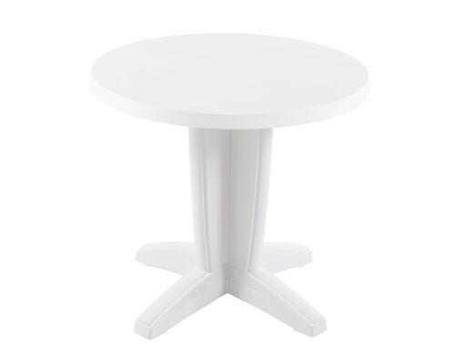 Стол круглый для сада Браво белый 01 d80 см - Фото №1