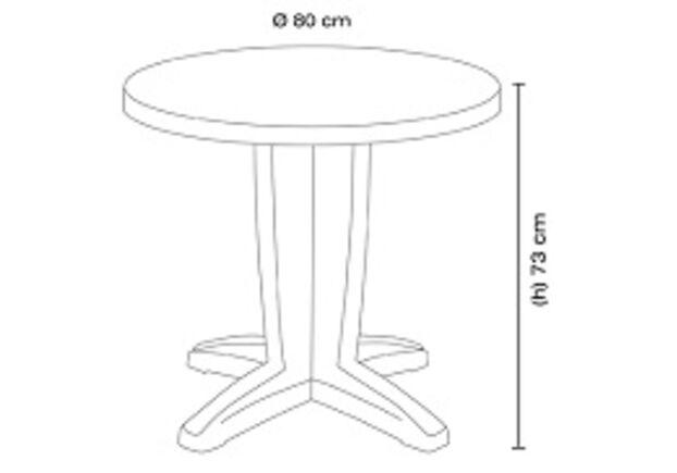 Стол круглый для сада Браво белый 01 d80 см - Фото №2