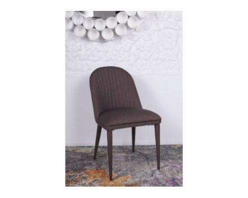 Стул FRANKFURT (49*60*84 cm - текстиль) коричневый - Фото №1