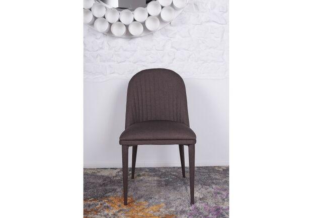 Стул FRANKFURT (49*60*84 cm - текстиль) коричневый - Фото №2