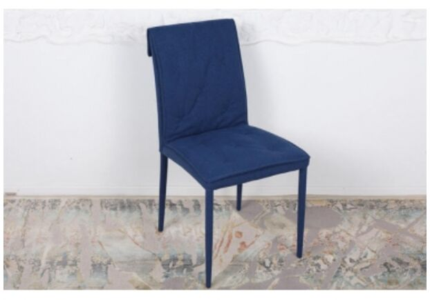 Стул NAVARRA (45*60*89 cm текстиль) темно-синий - Фото №1