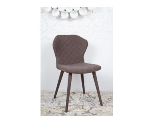 Стул VALENCIA (60*51*88 cm - текстиль) коричневый - Фото №1