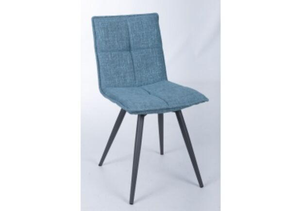 Стул поворотный MADRID (56*44*85 cm - текстиль)  рогожка темно-голубой - Фото №1