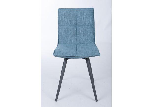 Стул поворотный MADRID (56*44*85 cm - текстиль)  рогожка темно-голубой - Фото №2