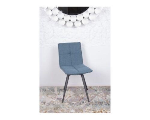 Стул поворотный MADRID (56*44*85 cm - текстиль) синий - Фото №1