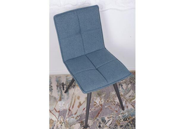 Стул поворотный MADRID (56*44*85 cm - текстиль) синий - Фото №2
