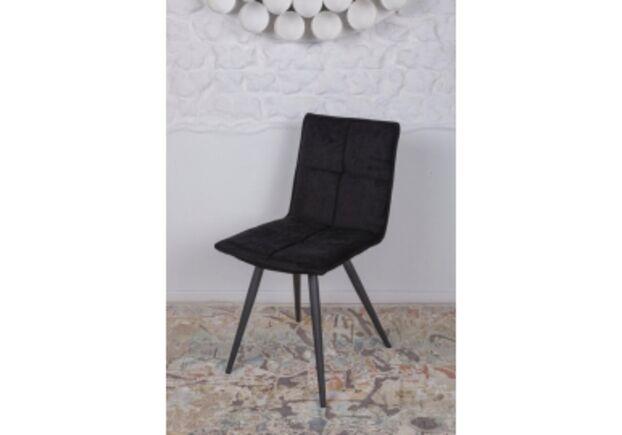 Стул поворотный MADRID (56*44*85 cm - текстиль) черный - Фото №1