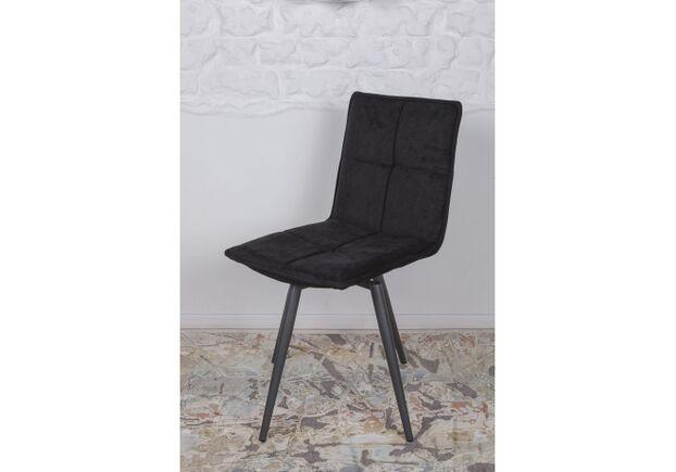 Стул поворотный MADRID (56*44*85 cm - текстиль) черный - Фото №2