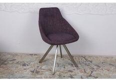 Фото Стул поворотный TOLEDO (58*55*87 cm - текстиль) рогожка баклажан