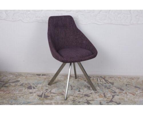 Стул поворотный TOLEDO (58*55*87 cm - текстиль) рогожка баклажан - Фото №1