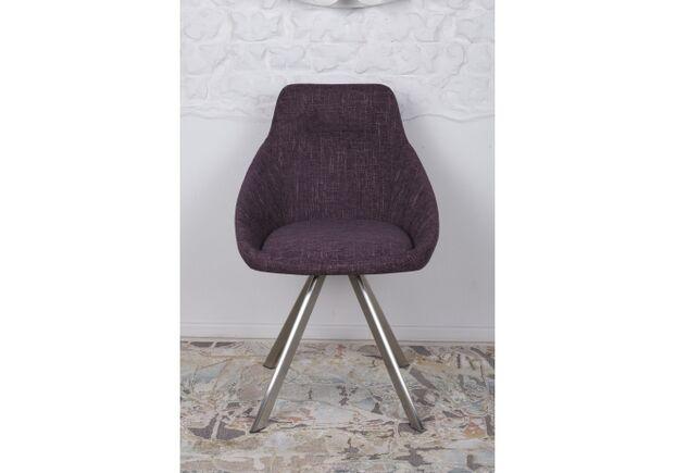 Стул поворотный TOLEDO (58*55*87 cm - текстиль) рогожка баклажан - Фото №2