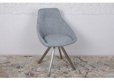 Фото Стул поворотный TOLEDO (58*55*87 cm - текстиль) рогожка бледно-бирюзовый