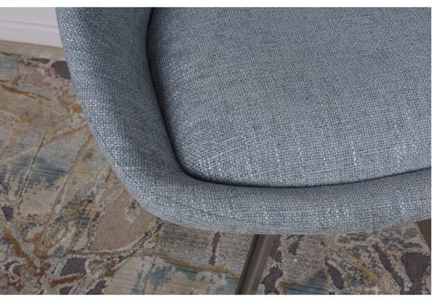 Стул поворотный TOLEDO 58*55*87 см рогожка бледно-бирюзовый, текстиль - Фото №2