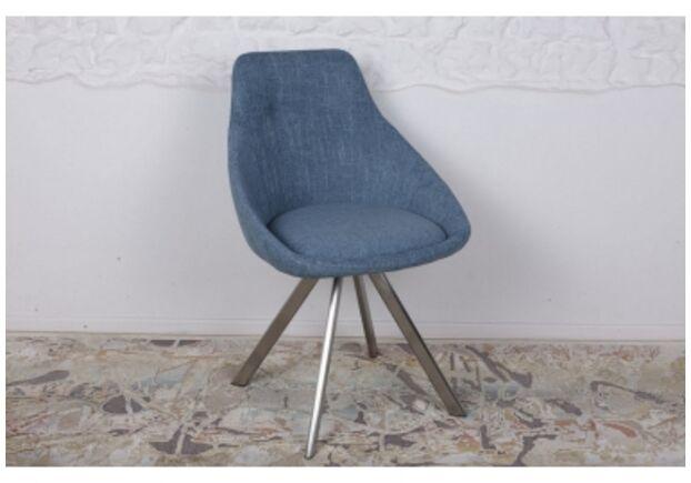 Стул поворотный TOLEDO (58*55*87 cm - текстиль) рогожка темно-голубой - Фото №1