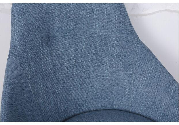 Стул поворотный TOLEDO (58*55*87 cm - текстиль) рогожка темно-голубой - Фото №2