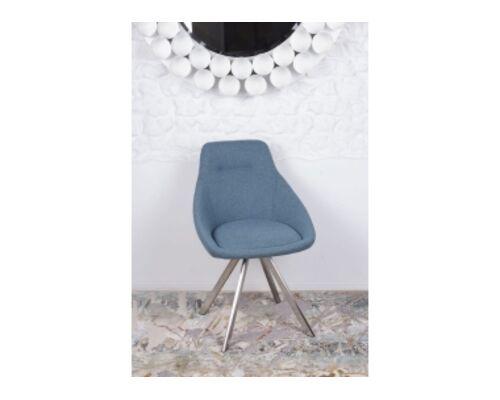 Стул поворотный TOLEDO (58*55*87 cm - текстиль) синий - Фото №1