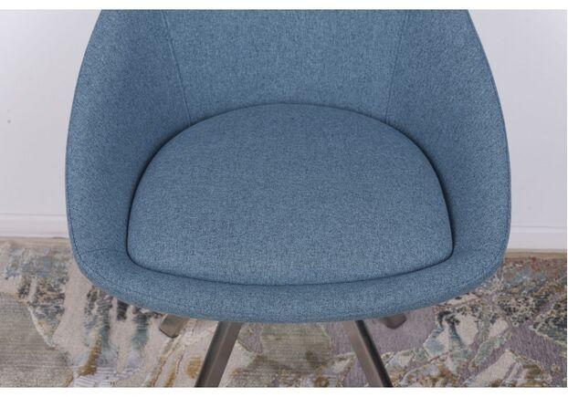 Стул поворотный TOLEDO (58*55*87 cm - текстиль) синий - Фото №2