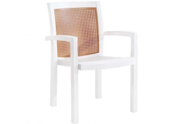 Кресло для сада Вира белое 01 - Фото №1