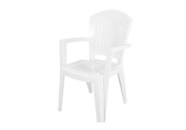 Кресло пластиковое Aspendos белое - Фото №1
