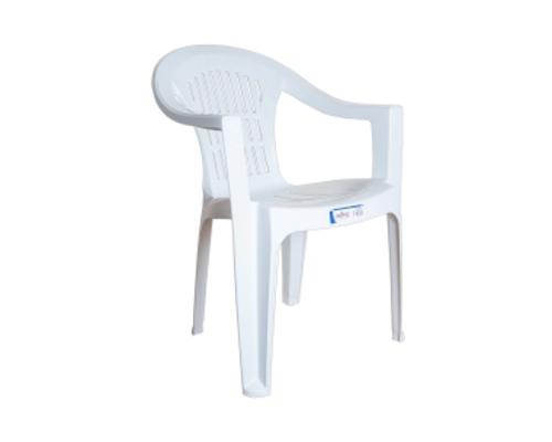 Кресло пластиковое Bahar EKO белое - Фото №1