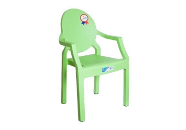Кресло детское пластиковое Afacan зеленое - Фото №1