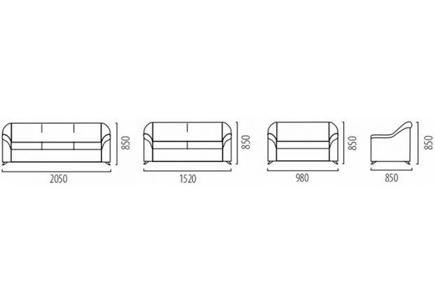 Диван одноместный-кресло Анабель ткань Vincent (Apparel) 3 категория - Фото №2