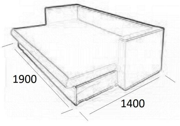 Диван Изабель раскладной ткань Лора 1В (Меблайн)+ Фокс1(Мебтекс) 2 категория - Фото №2