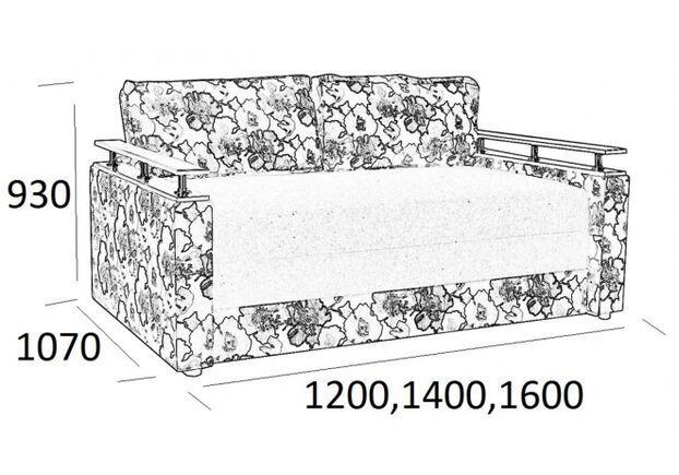 Диван Куб 1,4 м ткань Фуджи 6 Подушки Арт 2 - 3 категория - Фото №2