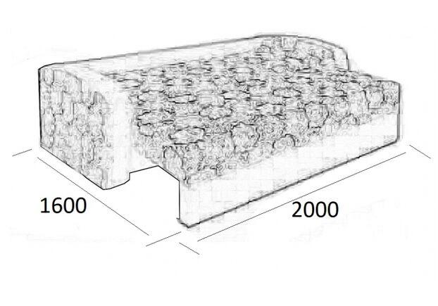 Диван Лира раскладной ткань Аверно стон (арб)+ гланс стон 1 категория - Фото №2