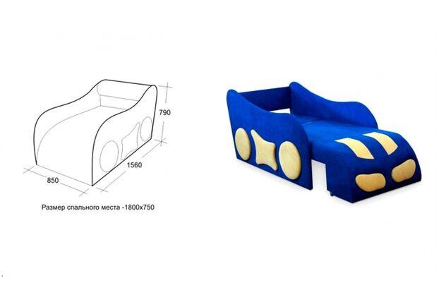 Детский диван Машинка ткань Acri (Магитекс) 3 категория - Фото №2