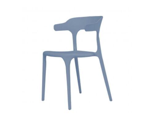 Стул пластиковый LUCKY (Лакки) голубой - Фото №1