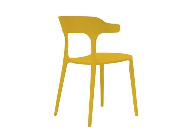 Стул пластиковый LUCKY (Лакки) желтый карри - Фото №2