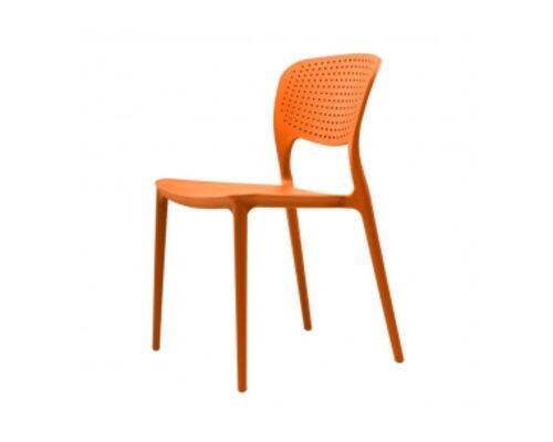 Стул пластиковый SPARK (Спарк) оранжевый - Фото №1