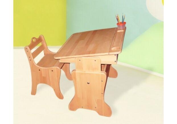 Детская парта-мольберт с пеналом + стульчик - Фото №1