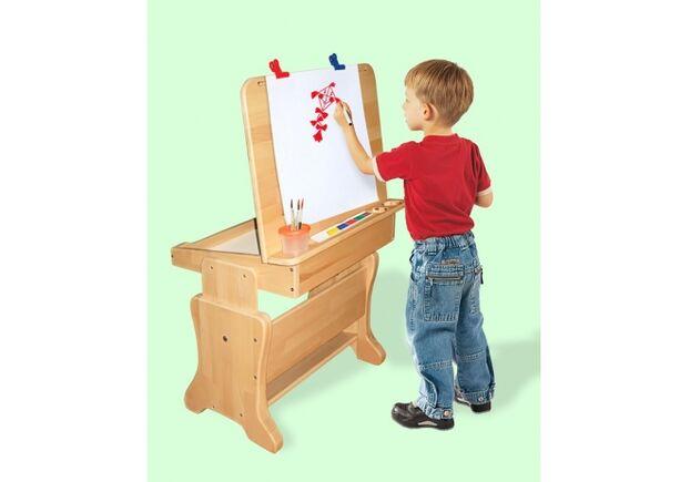 Детская парта-мольберт с пеналом + стульчик - Фото №2