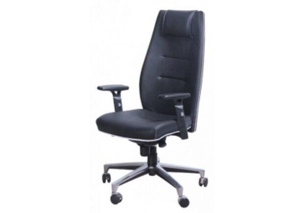 Кресло Элеганс HB черный,кант белый (синхром-зм,Неаполь) - Фото №1