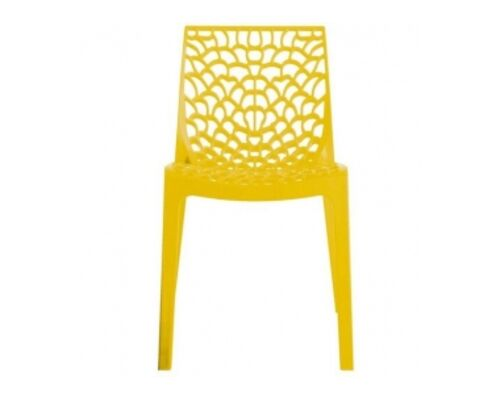 Пластиковый стул GRUVYER giallo brilliante (Грувер желтый) - Фото №1