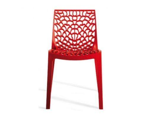 Пластиковый стул GRUVYER rosso (Грувер красный) - Фото №1